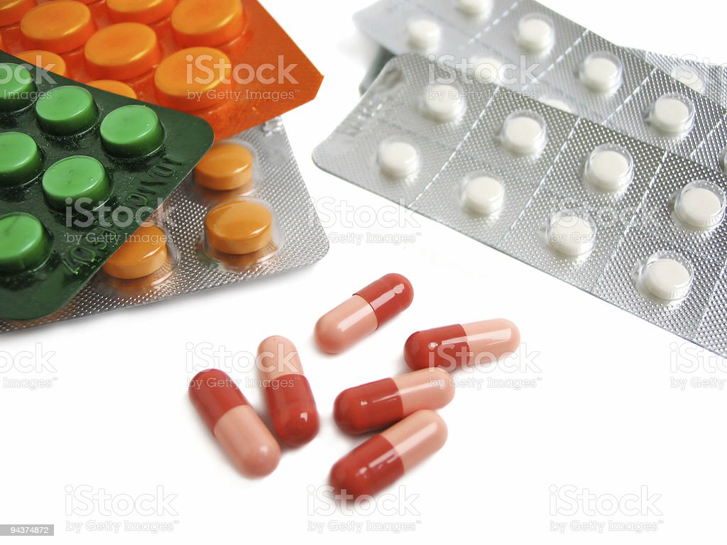 Packs of pills royalty-free stock photo