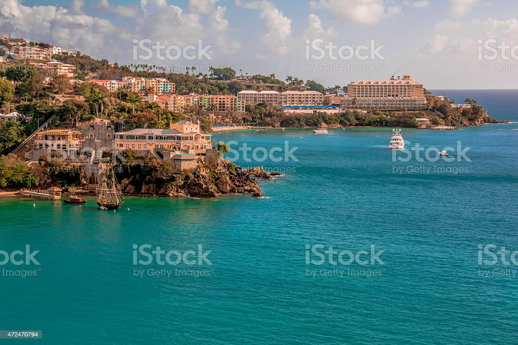 Pacquereau Bay, St. Thomas, US Virgin Islands stock photo
