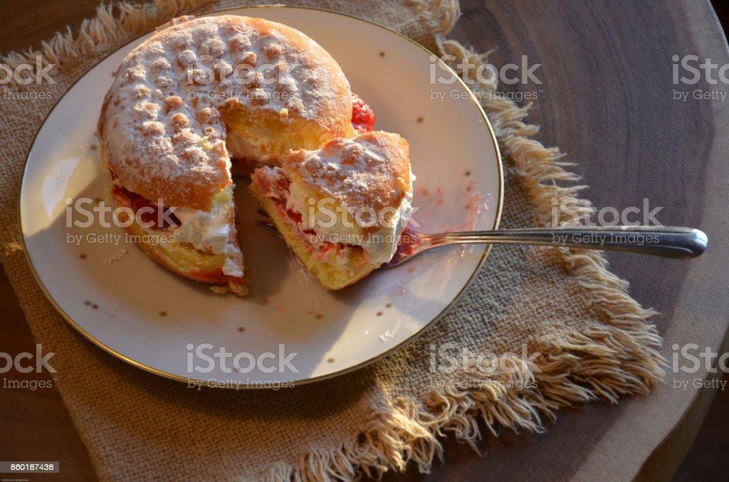 Paczki, Polish Donut stock photo