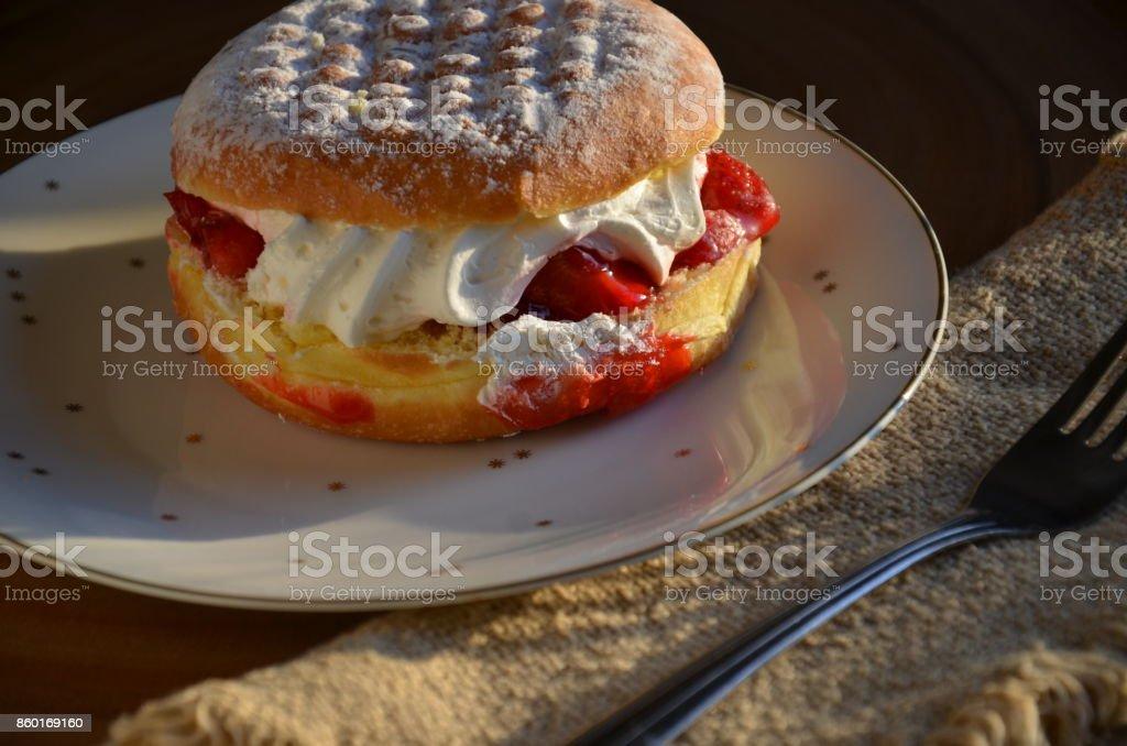 Paczki Polish Doughnut stock photo