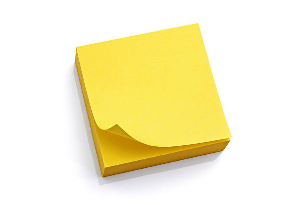 giallo sticky note vuoto - post it foto e immagini stock