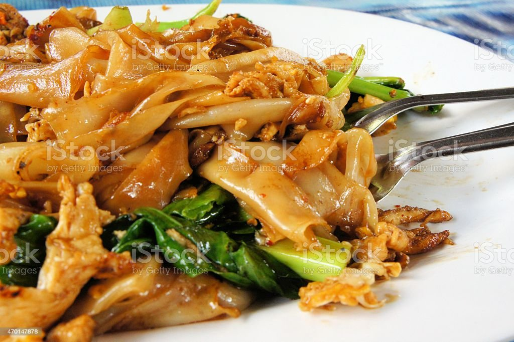 Pad See Ew Flat Rice Noodle Stir Fried With Beef Stock Photo Download Image Now Istock