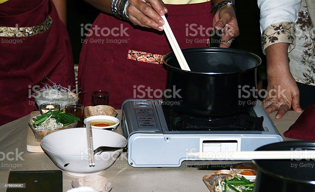 Pad Thai Cooking Class stock photo