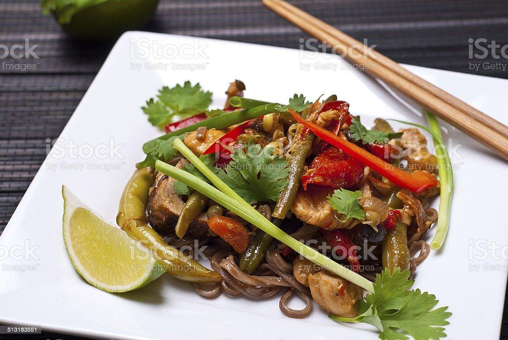 Pad Thai foto de stock libre de derechos