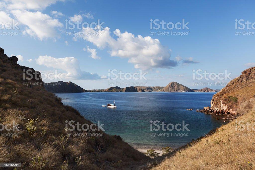 Padar island stock photo