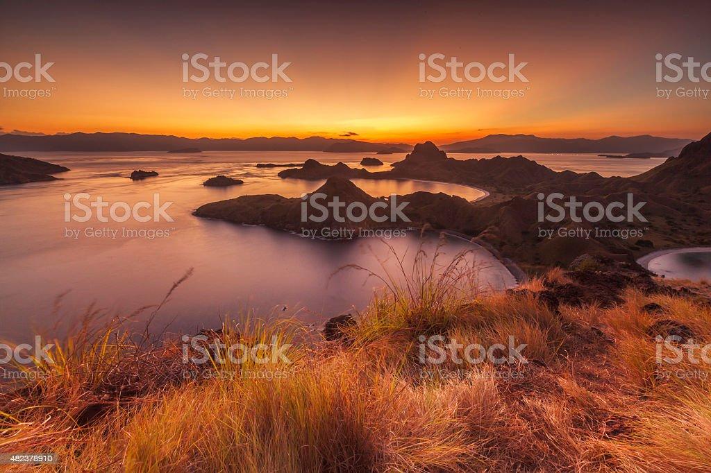 Padar Sunset stock photo