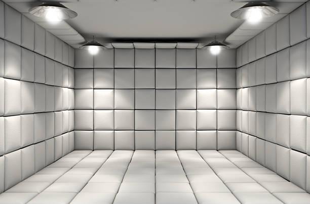 cellule matelassée - hopital psychiatrique photos et images de collection