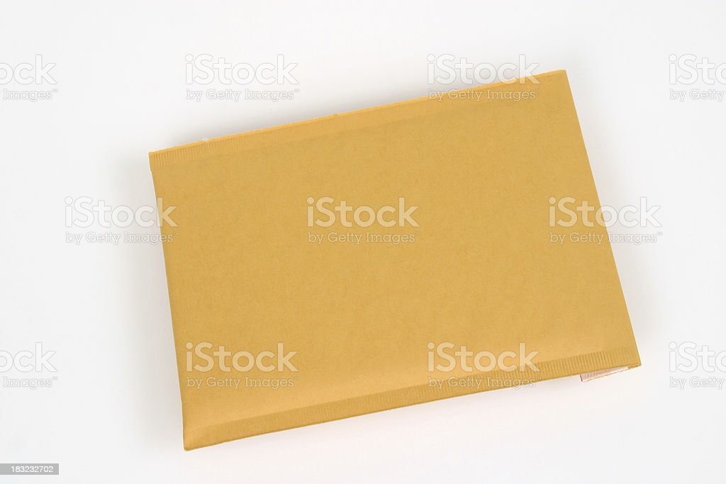 Padded Manila Envelope royalty-free stock photo
