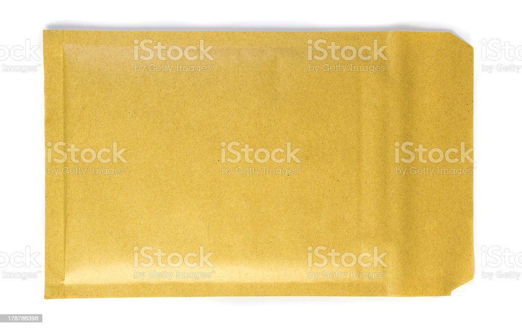 Padded Shipping Envelope (Clipping path) royalty-free stock photo