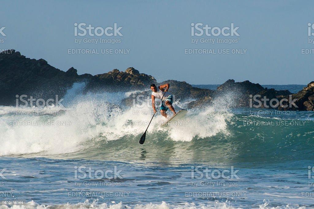 Paddle board surfing in Puerto Escondido, Mexico – Foto