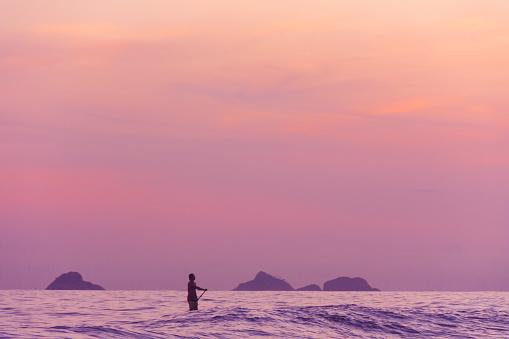 Paddle boarding at Ipanema beach in Rio de Janeiro