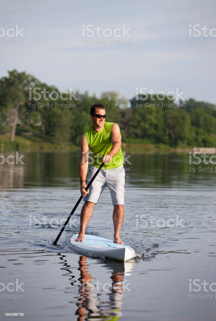 Paddle Boarding royalty-free stock photo