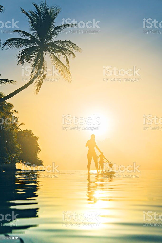 Paddle boards at Sunset – Foto