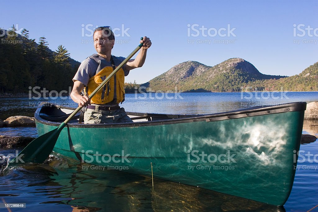 Paddle Maine royalty-free stock photo