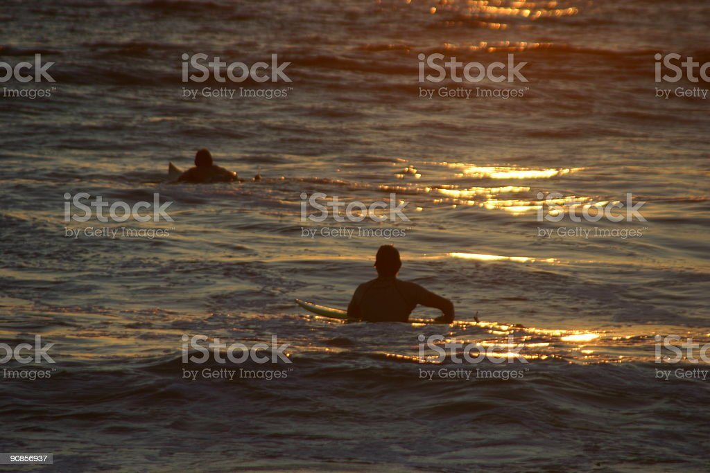 Paddle Out royalty-free stock photo
