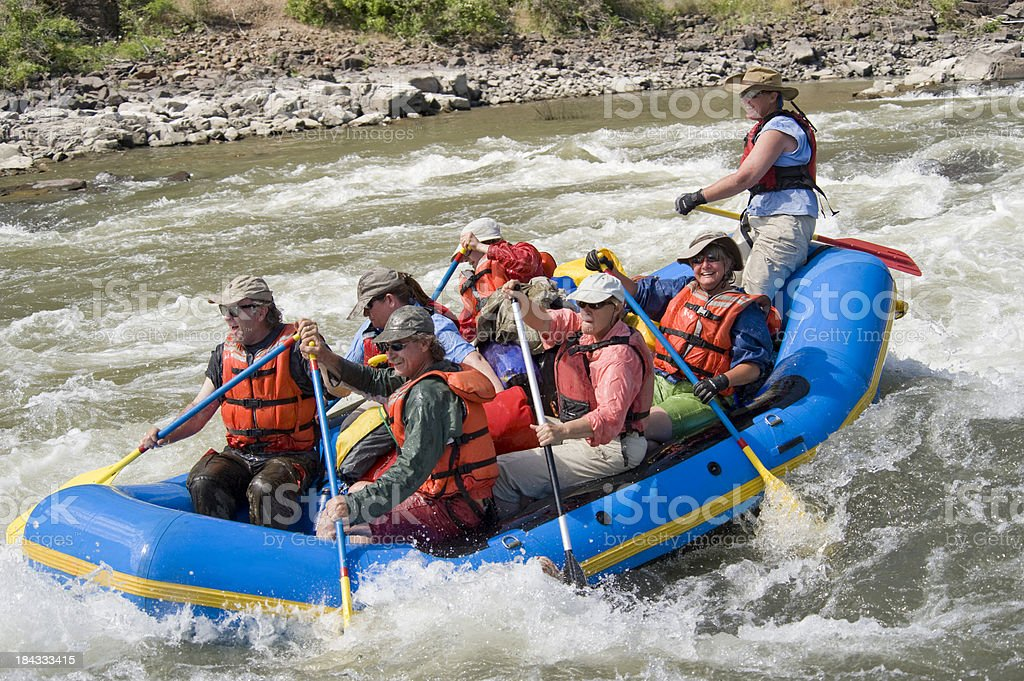 Paddle Raft, Grande Ronde River, Oregon. royalty-free stock photo