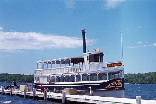 Paddle steamer 'Belle Of the Lake' on Chautauqua Lake