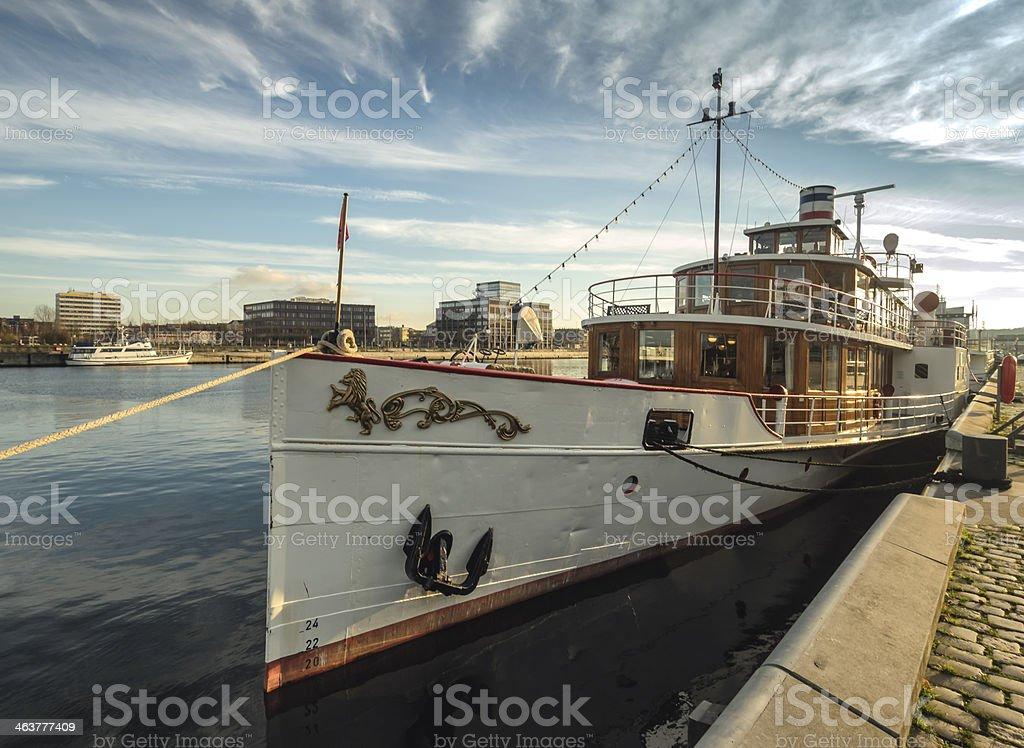 Paddle steamer Freya from Kiel stock photo