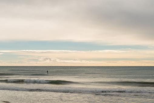 Paddle Surf at sea
