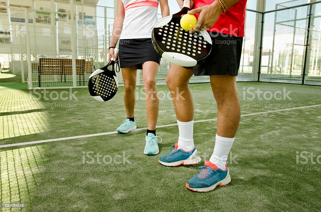 Paddle tennis body parts stock photo