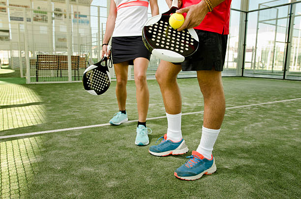 paddle tennis body parts - table tennis racket stock pictures, royalty-free photos & images