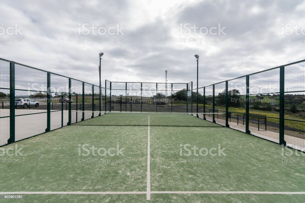paddle tennis court outdoor  without people stock photo