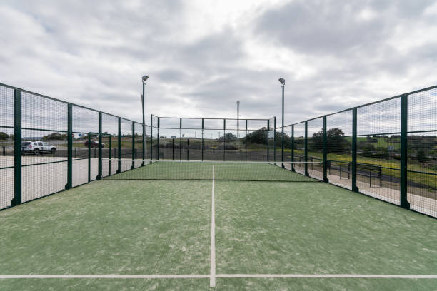 paddle tennis court outdoor  without people - table tennis racket stock pictures, royalty-free photos & images