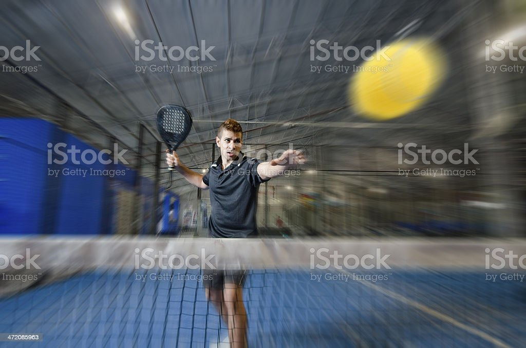 Paddle tennis master stock photo