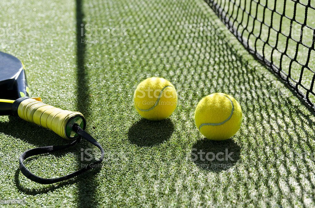 Paddle tennis objects. stock photo