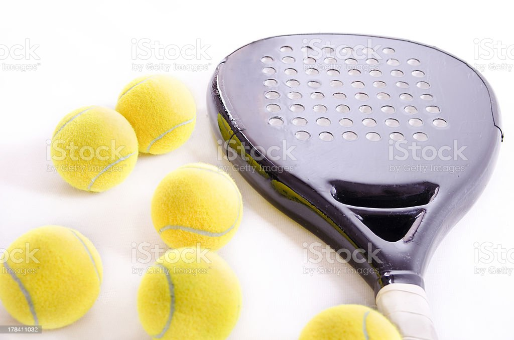 Paddle tennis objects royalty-free stock photo