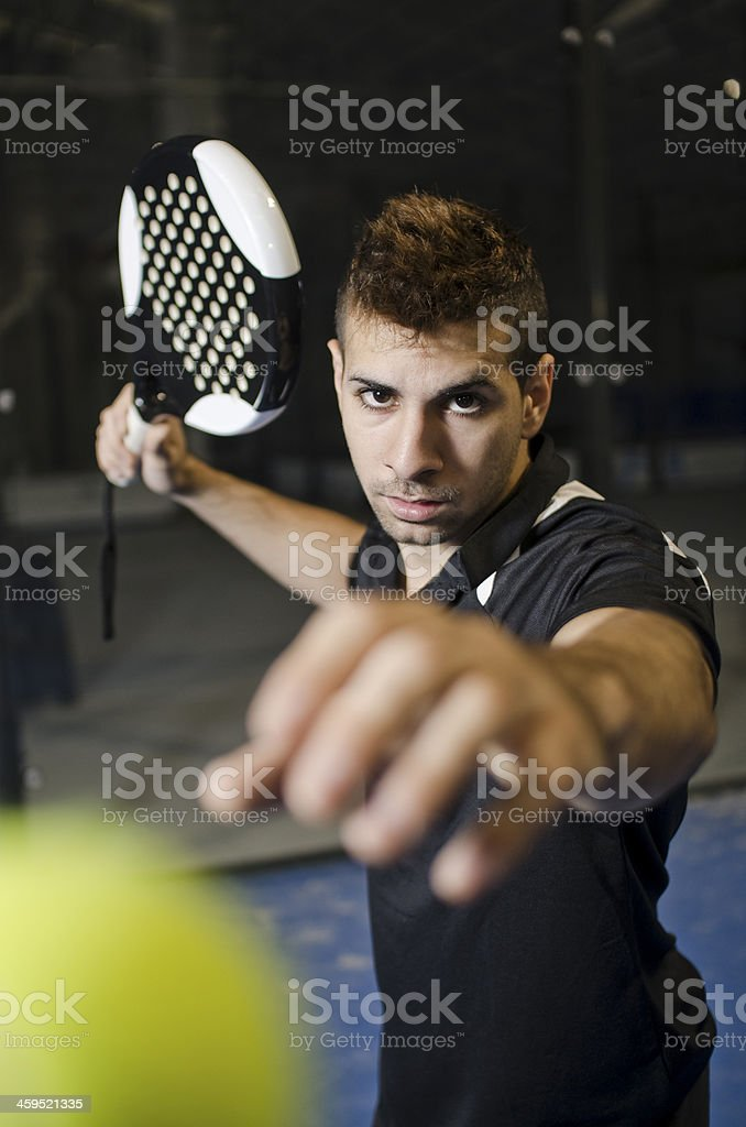 Paddle tennis training stock photo