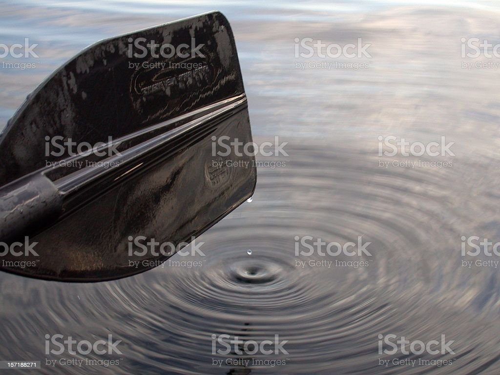Paddle Water Drop Shot royalty-free stock photo