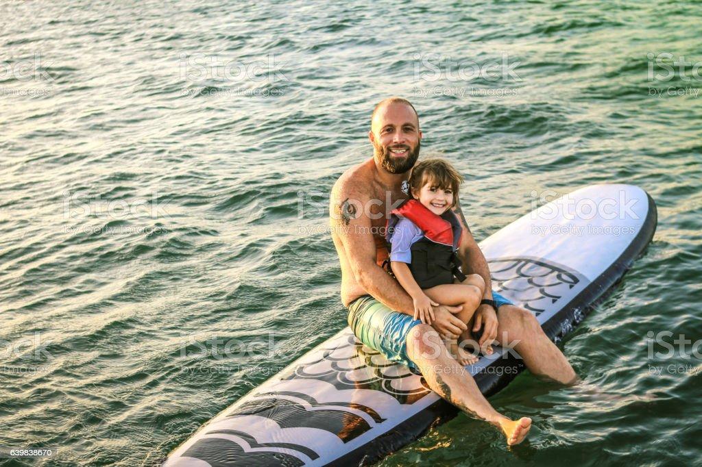 Paddleboarders stock photo