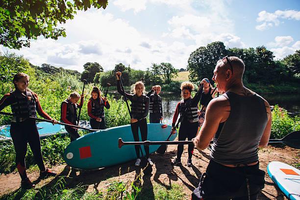 Paddleboarding Class - foto de acervo