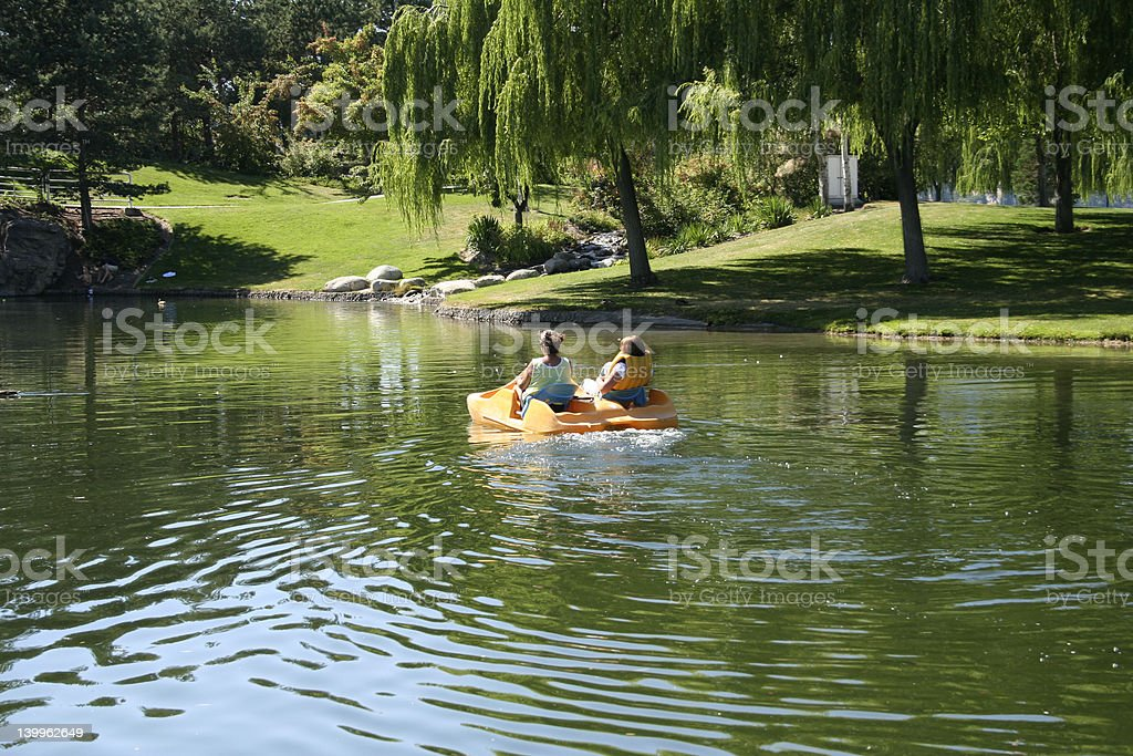 Paddleboat royalty-free stock photo