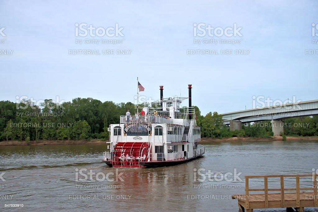 Paddleboat Turning stock photo