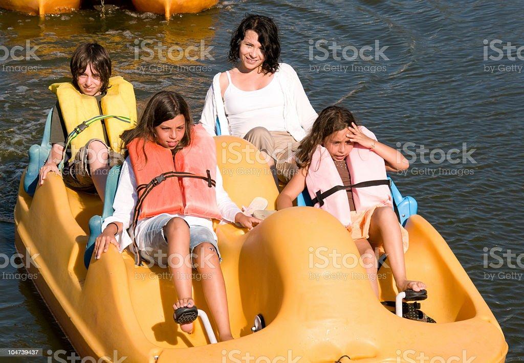 Paddleboating stock photo