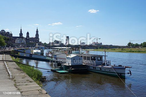 istock Paddlesteamer in the old town of Dresden 1243815169