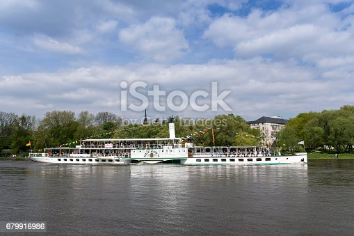 istock paddle-steamer on the river Elbe in Dresden 679916986