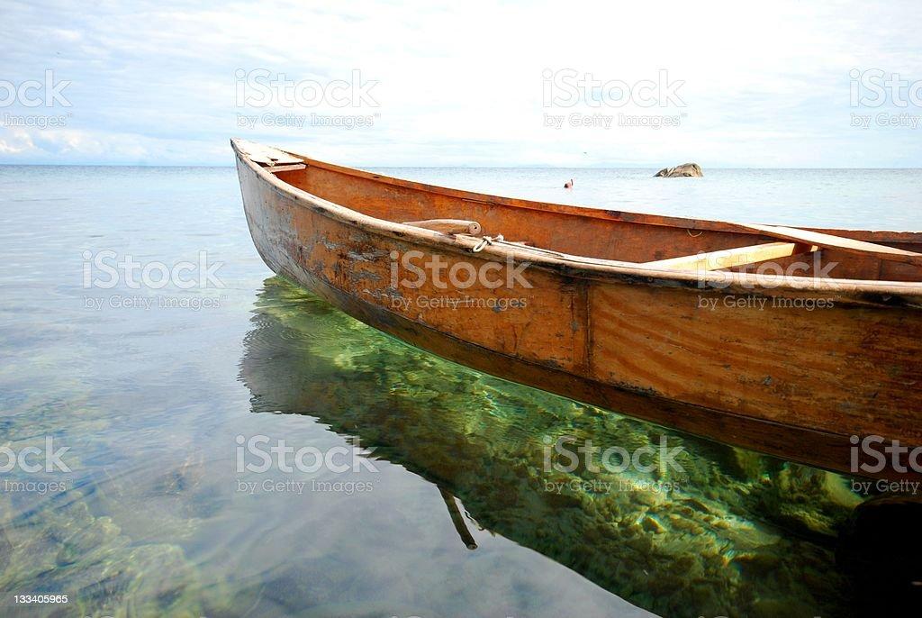 Paddling boat stock photo