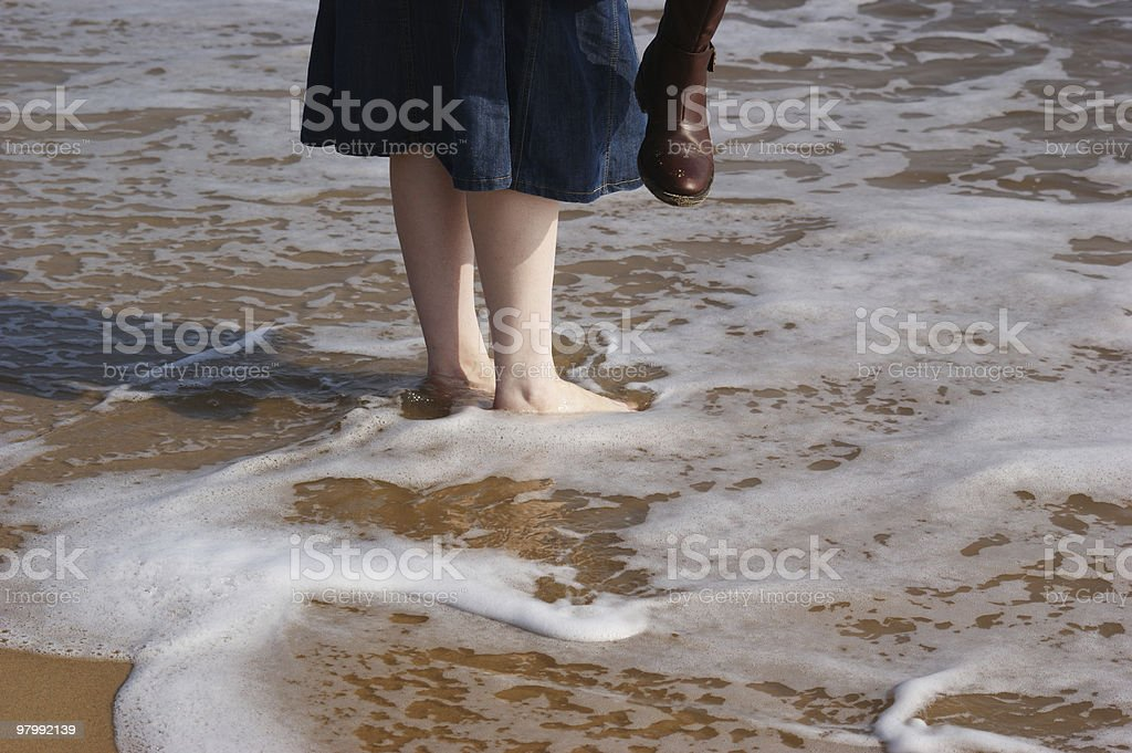 Paddling Feet royalty-free stock photo