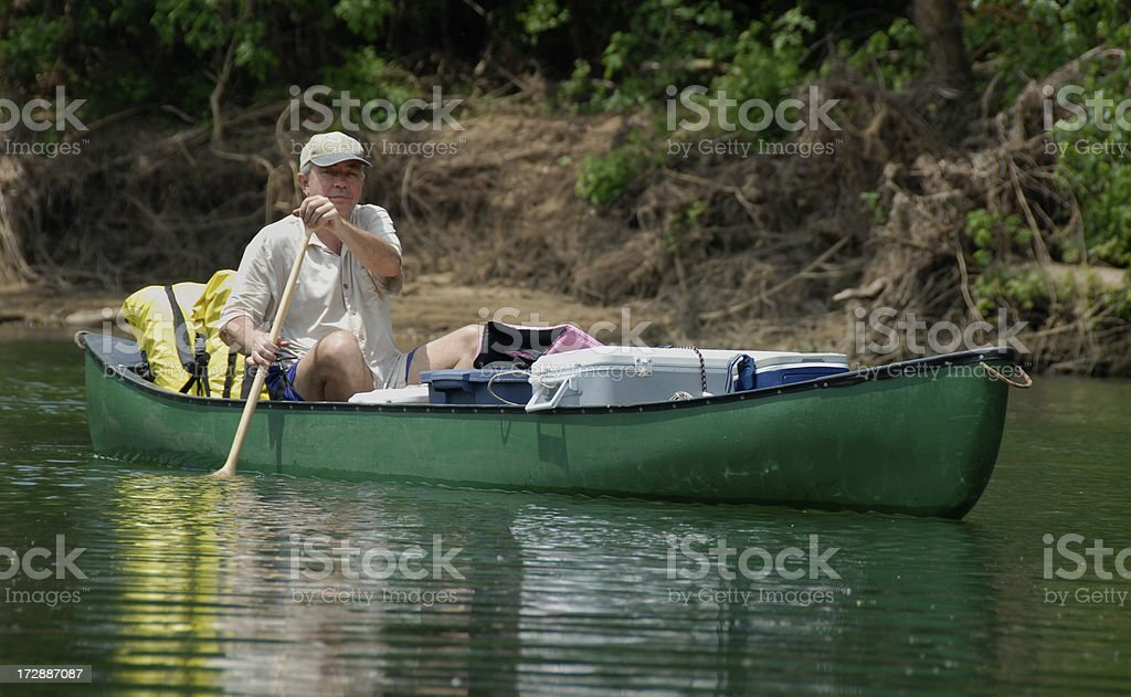 Paddling Man royalty-free stock photo