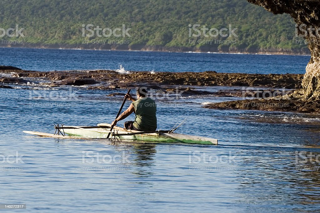 Paddling out stock photo