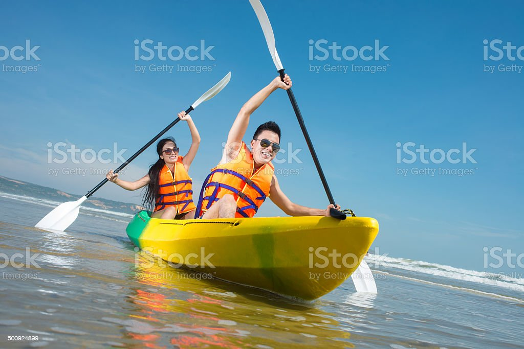 Paddling stock photo