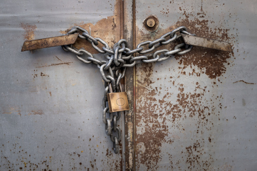 Padlock And Chain Stock Photo - Download Image Now