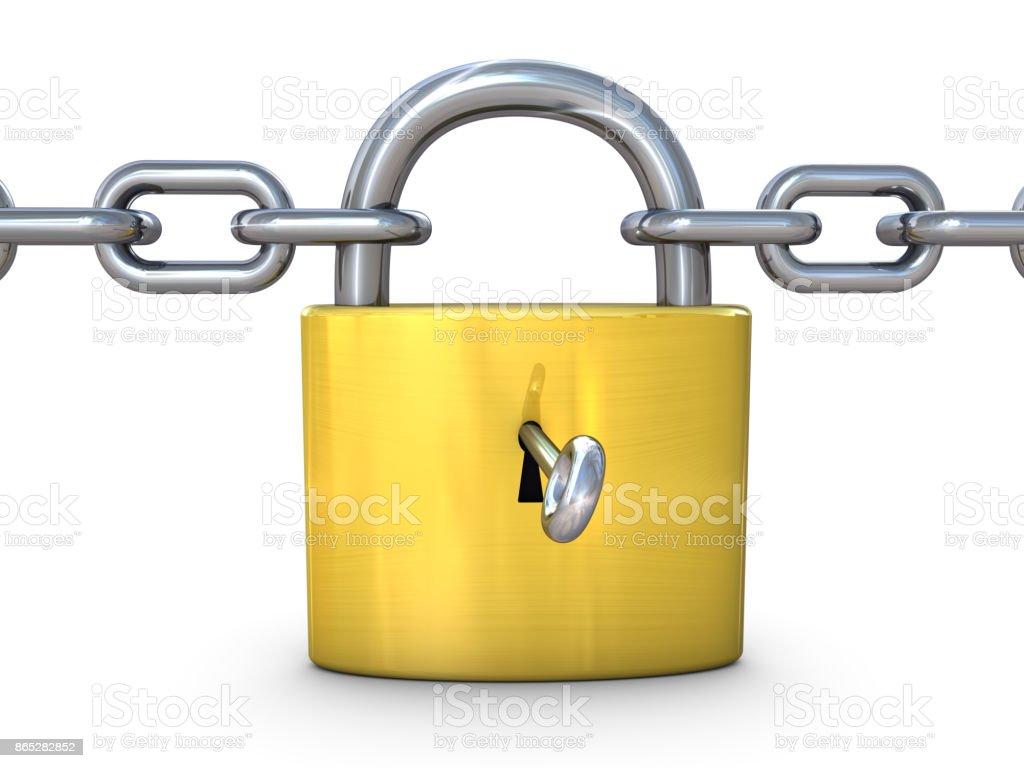 Padlock and Chain stock photo
