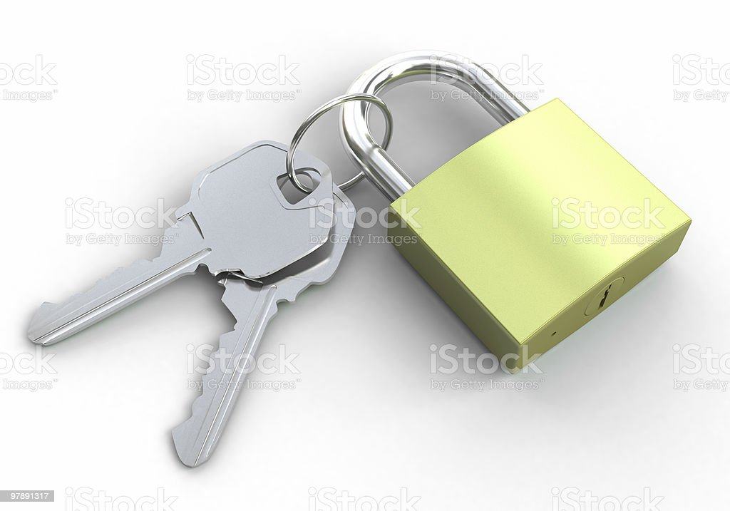 Padlock and Keys royalty-free stock photo