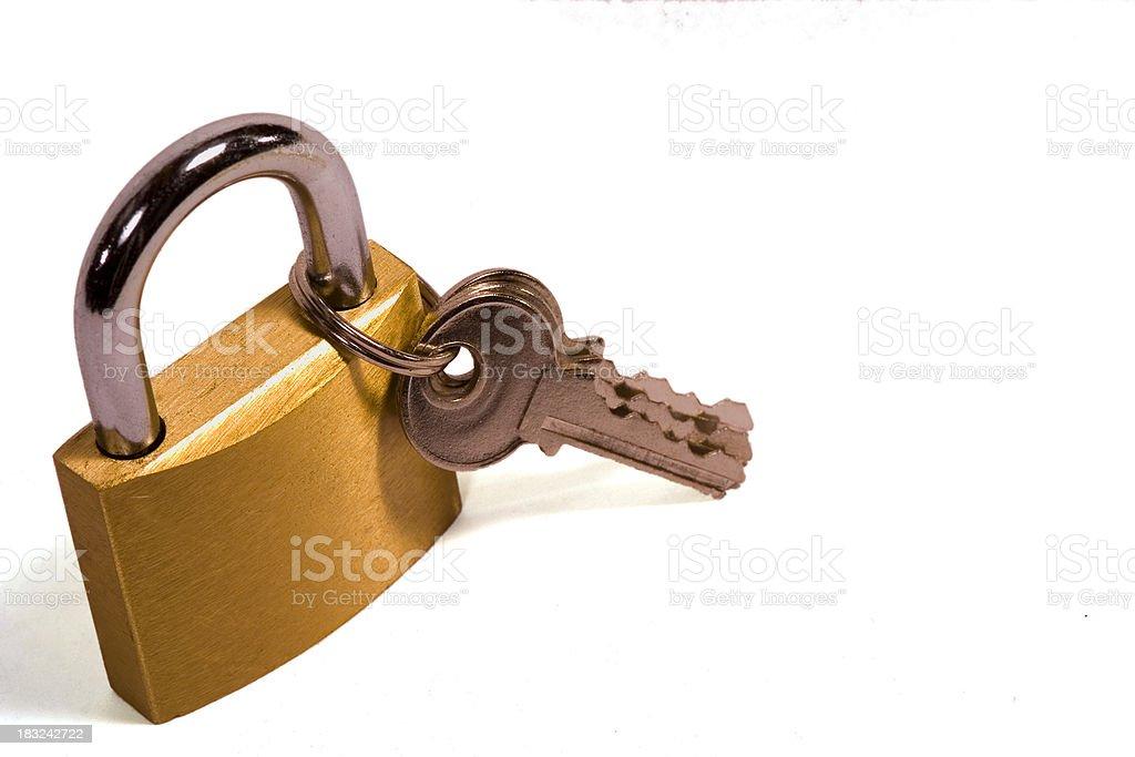 Padlock and two keys royalty-free stock photo