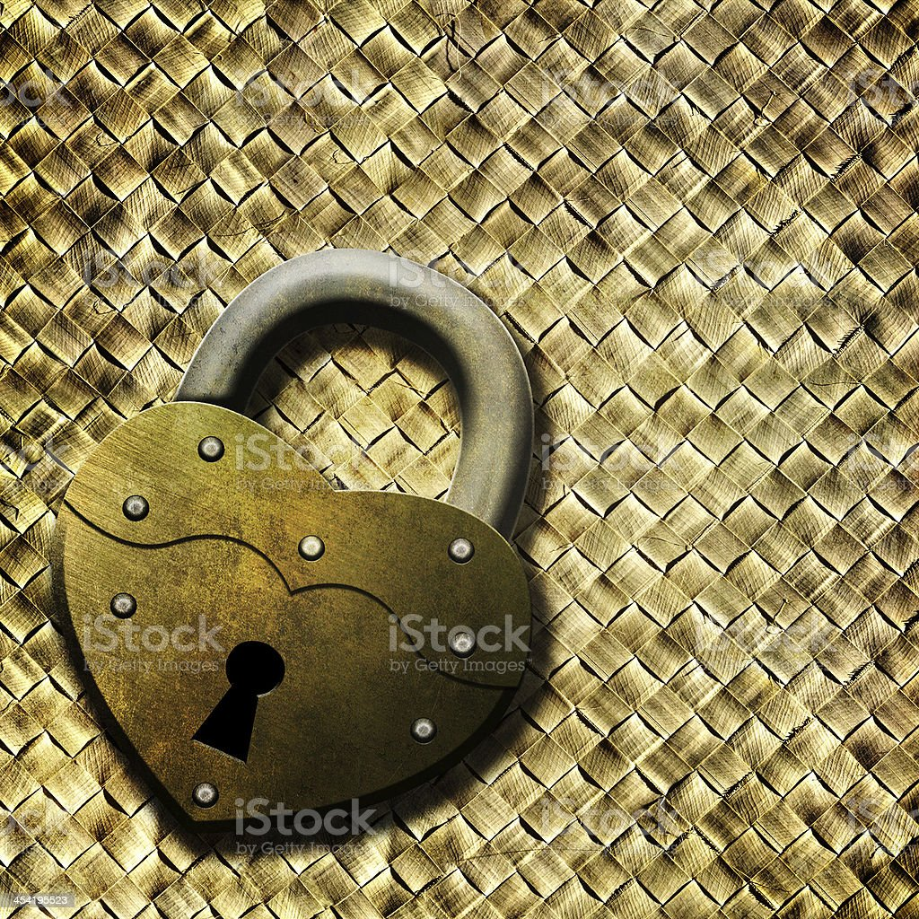 Padlock heart royalty-free stock photo