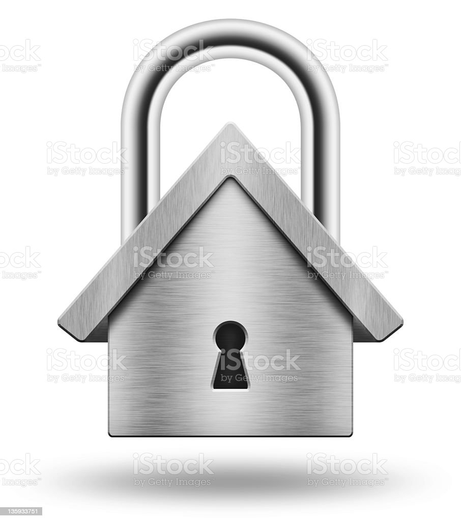 Padlock in the shape of  house royalty-free stock photo